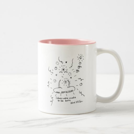 Ideas Were Meant to be Born Two-Tone Coffee Mug