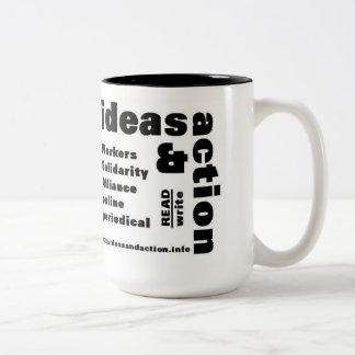 ideas y taza de café del zine de la tela del wsa