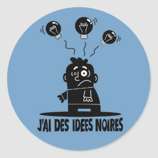 IdeesNoires Pegatinas Redondas