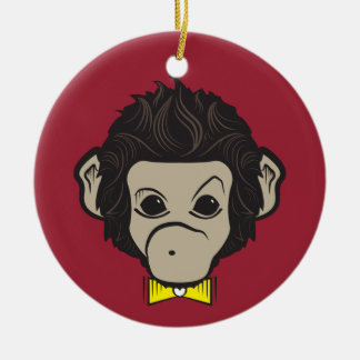 identica del mono adorno redondo de cerámica