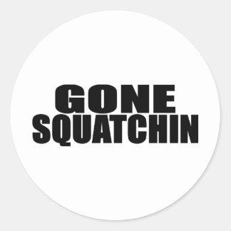 IDENTICAL to BOBO's *ORIGINAL* GONE SQUATCHIN Classic Round Sticker