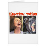 IDENTICAL TWINS GREETING CARD