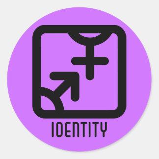 Identidad: Ambo pegatina ligero redondo