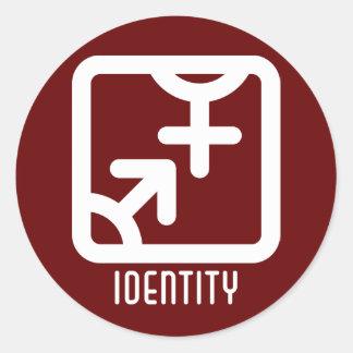Identidad: Ambo pegatina oscuro redondo