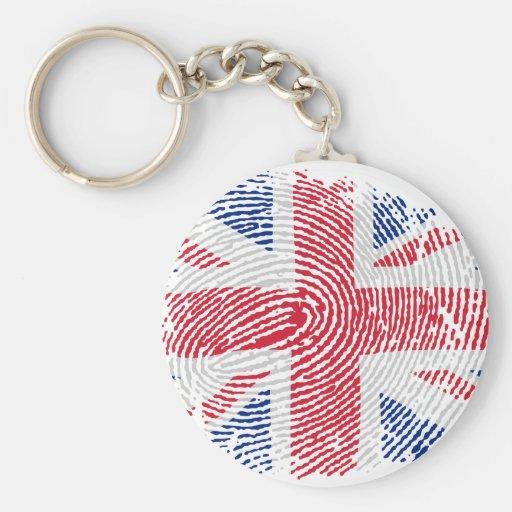 Identidad británica llavero