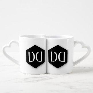 Identidad de la DD de great dane Set De Tazas De Café