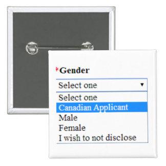 Identidad del género: Candidato canadiense Pin