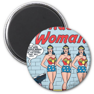 Identidad triple de la Mujer Maravilla Imán Redondo 5 Cm