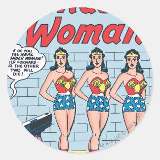Identidad triple de la Mujer Maravilla Etiqueta