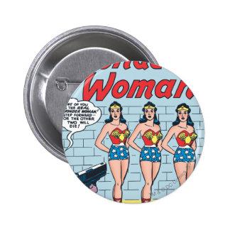 Identidad triple de la Mujer Maravilla Pin Redondo De 2 Pulgadas