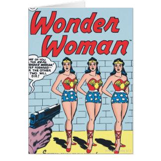 Identidad triple de la Mujer Maravilla Tarjeta De Felicitación