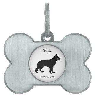 Identificación conocida de encargo del perro del t placa mascota