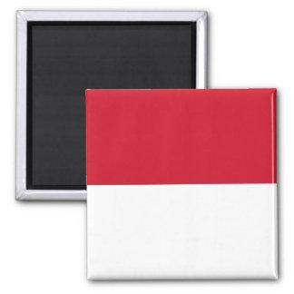Identificación de Indonesia, Jakarta, bandera Imán Cuadrado
