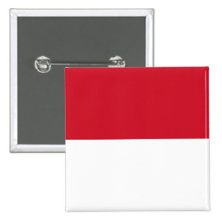 Identificación de Indonesia, Jakarta, bandera Pin Cuadrada 5 Cm