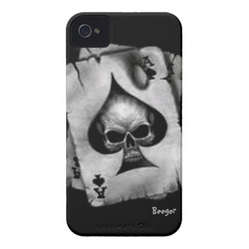 Identificación de Iphone 4 - cráneo de espadas iPhone 4 Case-Mate Carcasas