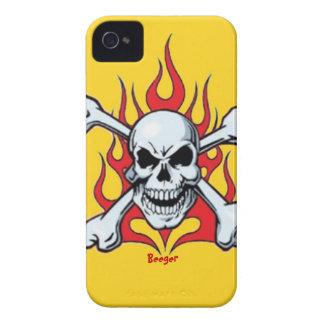 Identificación de Iphone 4 - cráneo del metal con Case-Mate iPhone 4 Protector
