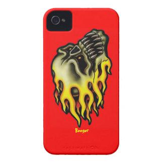 Identificación de Iphone 4 - cráneo llameante del iPhone 4 Cárcasa