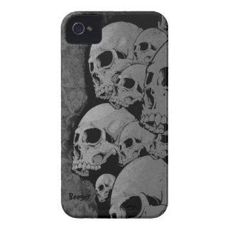 Identificación de Iphone 4 - cráneos del zombi Case-Mate iPhone 4 Protectores