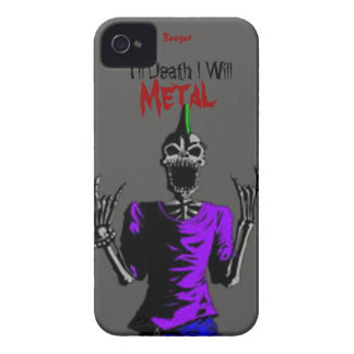 Identificación de Iphone 4 - hasta muerte Metal iPhone 4 Case-Mate Funda