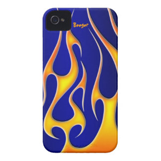 Identificación de Iphone 4 - llamas del Rad iPhone 4 Case-Mate Protectores