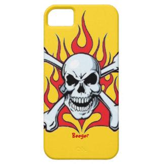 Identificación de Iphone 5 - cráneo del metal con iPhone 5 Carcasas