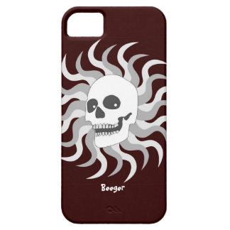Identificación de Iphone 5 - cráneo y llamas de iPhone 5 Carcasa