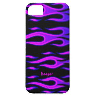 Identificación de Iphone 5 - llamas púrpuras iPhone 5 Fundas