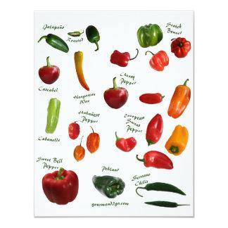 Identificación de la pimienta de chile invitación 10,8 x 13,9 cm