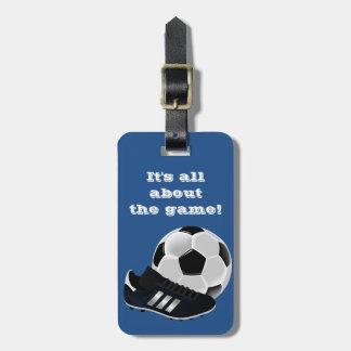 Identificación del bolso del gimnasio del fútbol - etiquetas maletas