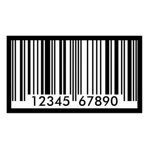 identificación del código de barras tarjetas de visita
