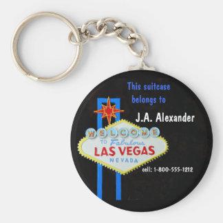 Identificación del equipaje. Etiqueta Las Vegas Llavero Redondo Tipo Pin