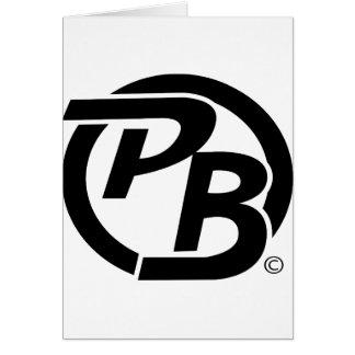 Identificación del logotipo de Pecky Boyz (negro) Tarjeta De Felicitación