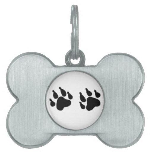 Identificación del mascota de la pata del lobo. Et Placa De Nombre De Mascota