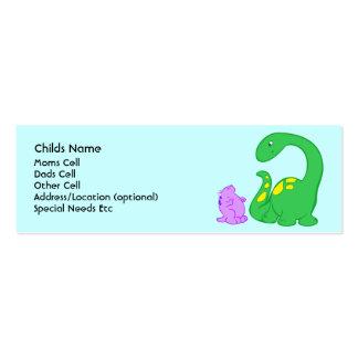 Identificación del niño de los amigos de Dino Tarjeta Personal