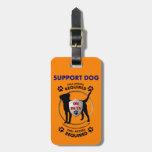 Identificación del perro de la ayuda etiquetas bolsa