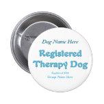 Identificación del perro de la terapia pins