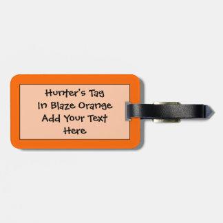 Identificación fácil anaranjada del resplandor de  etiquetas de maletas