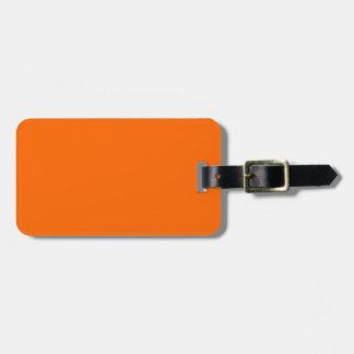 Identificación fácil anaranjada del resplandor de  etiquetas para equipaje