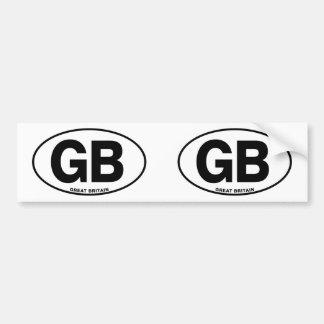 Identificación GB oval Gran Bretaña Pegatina Para Coche