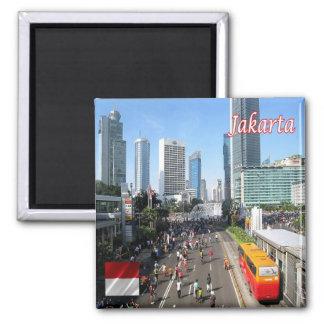 Identificación - Indonesia - el coche de Jakarta Imán Cuadrado