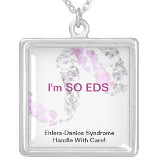 Identificación médica del EDS Collar Plateado