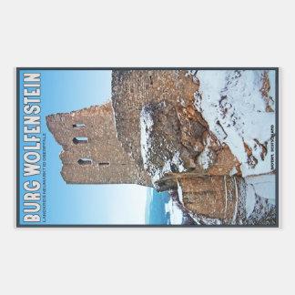 Identificación Opf - Burg Wolfenstein de Neumarkt Pegatina Rectangular