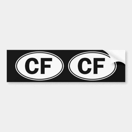 Identificación oval de los CF Pegatina Para Auto
