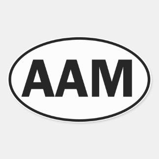 Identificación oval del AAM Pegatina Ovalada