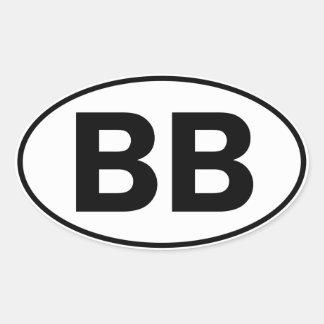 Identificación oval del BB Pegatina Ovalada
