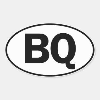 Identificación oval del BQ Pegatina Ovalada