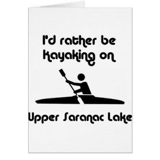 identificación superior del saranac kayaking tarjeta pequeña