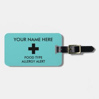 Identificación y I.C.E. Tag de la alergia Etiquetas De Maletas