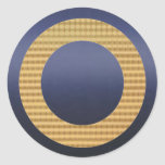 Identificadores de oro del regalo - azules marinos pegatinas redondas