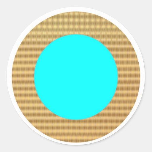 Identificadores de oro del regalo de la frontera etiquetas redondas